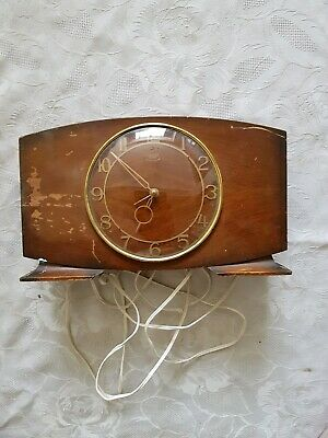 Vintage Smiths  Setric Electric Mantle Clock ~ Spares Or Repairs