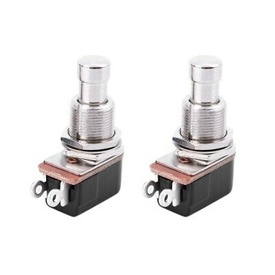 2 x Off(On) Momentary Push Button Foot Switch SPST B4W9 S2P