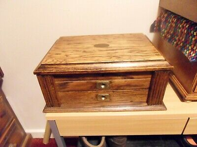 Upcycled Clean Empty Oak Cutlery Box, Beautiful Patina, Very Good Condition.