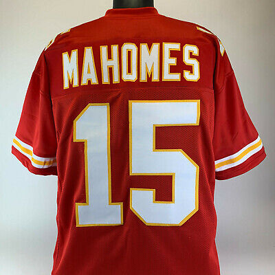 Patrick Mahomes Unsigned Custom Sewn Red Football Jersey Size - L, XL, 2XL