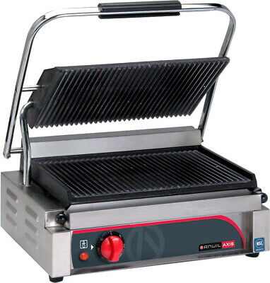 Anvil Panini Press Single Ribbed Top Flat Bottom