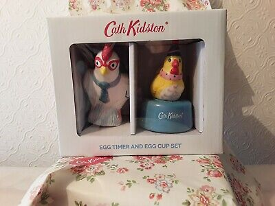 Cath Kidston Chicken Egg Timer And Egg Cup Set