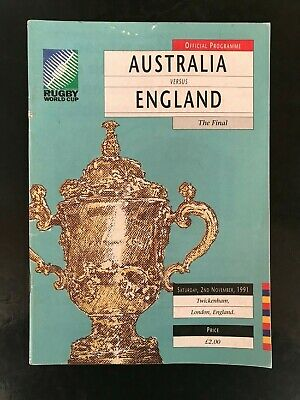 9522 - Rugby World Cup 1991 RWC - Australia v England FINAL Programme 02/11/1991