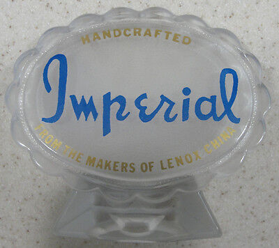 Imperial Glass Company ~ Sales / Dealer Advertisement Signage