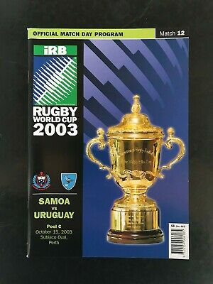 9660 - Rugby World Cup 2003 RWC - Italy v Uruguay Programme 15/10/2003