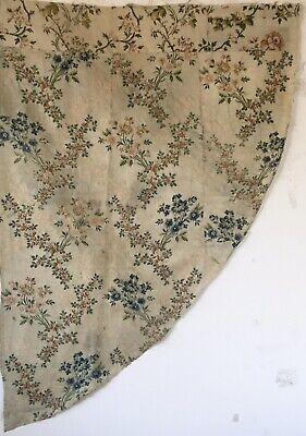 18th Century French Silk Brocade Floral Embroidery  Woven Fabric