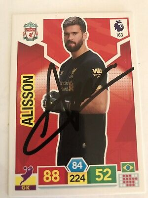 match attax 19/20 ALISSON BECKER LIVERPOOL SIGNED AUTOGRAPHED