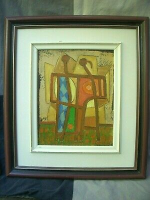 Charles Sucsan Quebec Figural Abstract Acrylic Painting Canadian