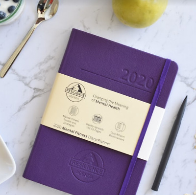2020 Resilience Agenda Mental Fitness & Wellbeing Diary - Purple