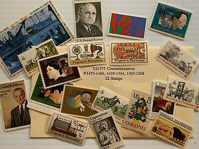 Outstanding U.S. Mint Complete 1973 year Commemorative Stamp Lot