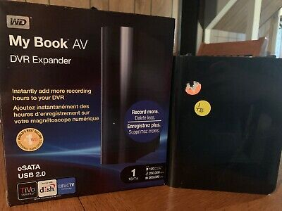 Western Digital My Book AV 1 TB,External,7200 RPM Comes with SATA and USB 2.0