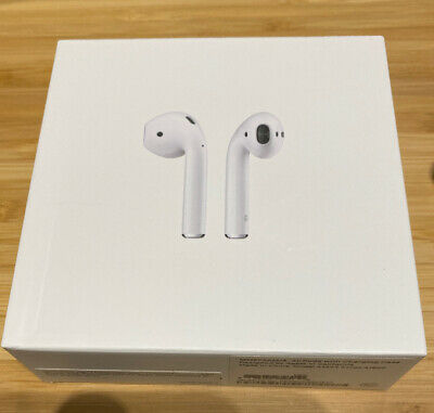 Apple AirPods White MMEF2AM/A In Ear Wireless Bluetooth Headset -Used W/ Box