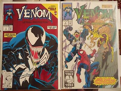 Venom: Lethal Protector #1 Foil and 4 1993 1st appearance Scream symbiote Marvel