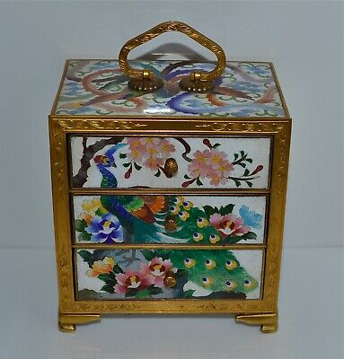 Fine Quality Old or Antique Japanese Cloisonne Jewelry Box Kodansu