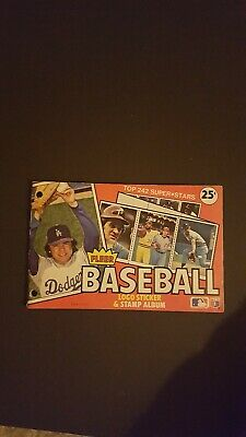 Vintage 1982 Fleer Baseball Sticker Album Partially Complete
