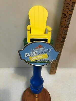 LABATT'S BLUE LIGHT SHANDY beer tap handle. Imported from Canada