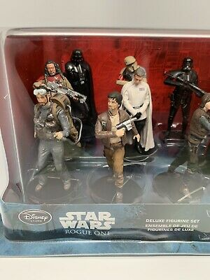 Rogue One-Disney Store-Star Wars Deluxe Figurine Set 10-Piece-New-Free Shipping