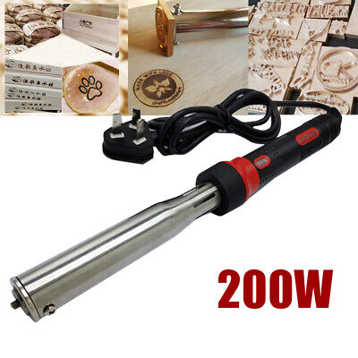 AU 200W Portable Iron Stamping Tool Leather Heat Branding Machine Wood Embosser