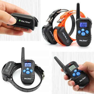 1/2 Petrainer Remote Electric Pet Collar Rechargeable Dog Training Shock Collar