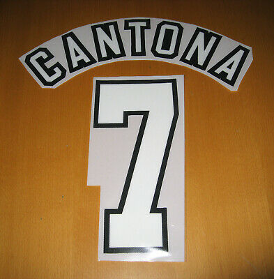 Manchester United 1996-1998 Home #7 CANTONA name and number set print printing