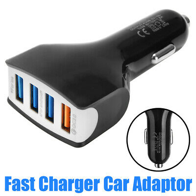 4 Multi Car Cigarette Lighter Socket Power Adapter Splitter QC3.0 USB C Charger