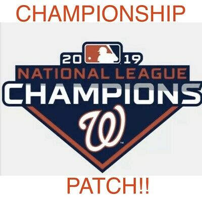 2019 Washington Nationals National League Champions Patch Mlb World Series Iron
