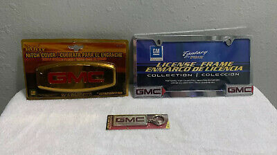 Lot Of Bully Hitch Cover - GMC, GMC License Frame And GMC Key Chain New