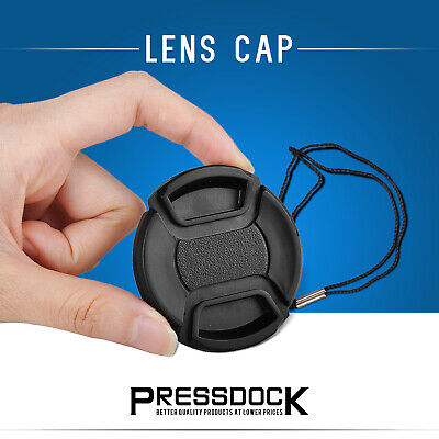 58mm Snap Center on cover cap Lens for Canon EOS EF Front nikon sony pentax