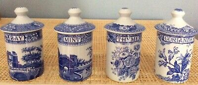 Spode Spice Jar - 4 Available @ $20 Each- Thyme, Bay, Coriander Or Mint