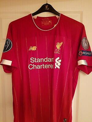 Liverpool FC Home Shirt 2019-2020 with CHAMPIONS LEAGUE BADGES , LARGE