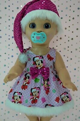 "Play n Wear Dolls Clothes 17"" Luvabella Doll CHRISTMAS PATTERN DRESS~HAT"