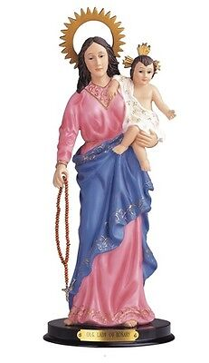 "12"" Inch Our Lady of The Rosary Saint  Statue Nuestra Señora del Rosaio Senora"