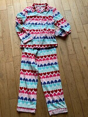 Gap Kids Age 14  (164cms) Fleecy Heart Print Pyjamas Girls With Tags Multi
