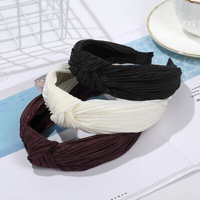 Fashion Ladies Headband Satin Head Band Middle Knotted Hairband Hair Accessories