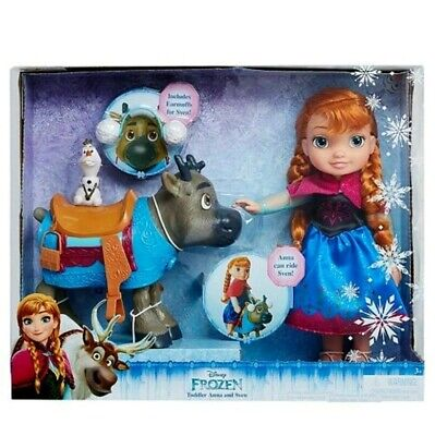 Disney Frozen my first Toy Anna Olaf Sven Toddler ride on Doll Set Ages 3+