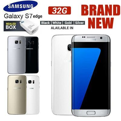 UK New Sealed Box Samsung Galaxy S7 Edge G935F LTE 32GB 4G Mobile 1Yr Warranty