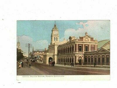 AUSTRALIA  Postcard, CENTRAL RAILWAY STATION  BRISBANE Qld