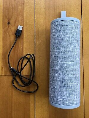 Goodmans Cylinder Bluetooth Wireless Speaker, Fabric Series, Grey