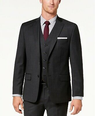 New $500 Michael Kors 48R Men's Gray Wool 2 Button Suit Jacket Blazer Sport Coat