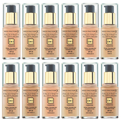 Max Factor Facefinity 3In1 All Day Flawless Foundation 30Ml *Choose Any Shade*