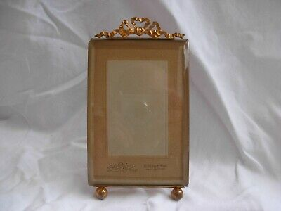 ANTIQUE FRENCH  BRASS BEVELED GLASS PHOTO FRAME,LOUIS XVI STYLE,LATE 19th.