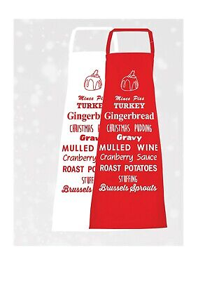 Aprons Chefs  Adults Christmas Cookwear Novelty His and Hers Home Festive