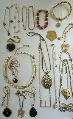 Mixed Gold tone/plated jewellery bundle/job lot/used/some vintage/Ikita necklace