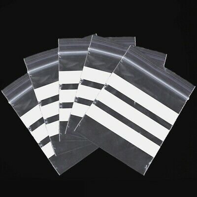 """5.5/"""" x 5.5/"""" WRITE ON PANEL STRIPS GRIP SEAL CLEAR BAGS RESEALABLE POLY PLASTIC"""