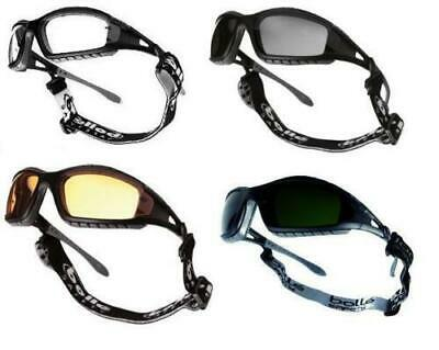 Bolle TRACKER II Safety Glasses Goggles Anti Mist & Scratch Case Bag Head Strap