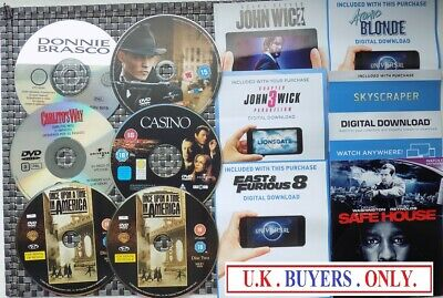 ~ X5 GANGSTER  DVD DISCS only no case plus free UV codes