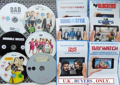 ~ X6 COMEDY DVD DISCS only no case plus free UV codes