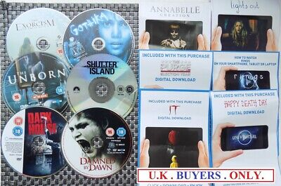 ~ X6  SPOOKY  DVD DISCS only no case plus free UV codes