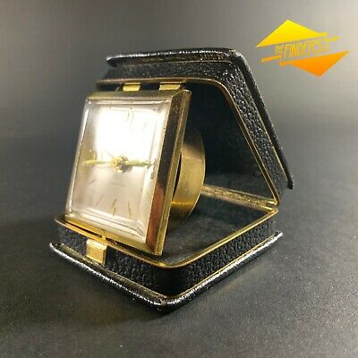 "Superb Vintage Art Deco ""Solo"" France Folding Travel Alarm Clock French"