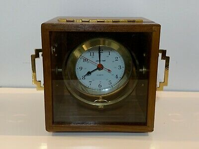 "Vintage ""Ship'S Time"" Nautical Mariner's Self Leveling Brass Clock"